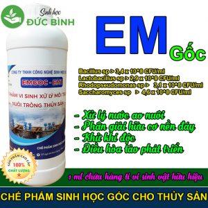 Chế phẩm EM gốc - EM1 chuyên dùng cho nuôi tôm, cá, thủy sản