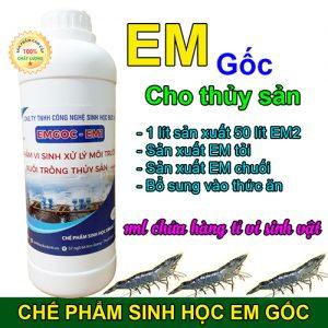 Chế phẩm vi sinh EM gốc - sản phẩm chuyên dụng cho nuôi trồng thủy sản của Sinh học Đức Bình