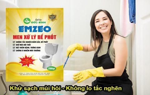 Men bể phốt emzeo - giải pháp chống tắc nghẽn, khử mùi hôi bể phốt, hầm cầu hiệu quả nhất