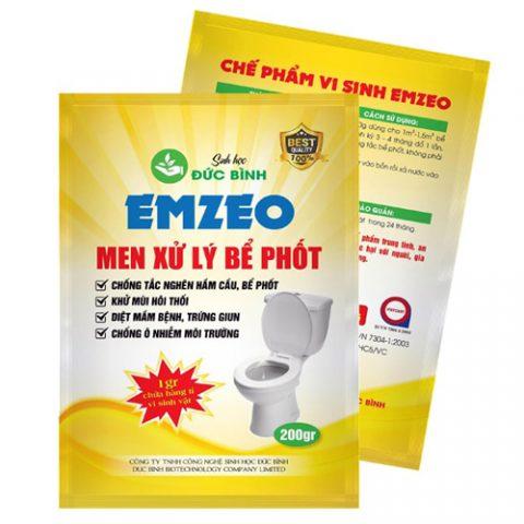Men xử lý bể phốt EMZEO là loại sản phẩm tốt nhất hiện nay