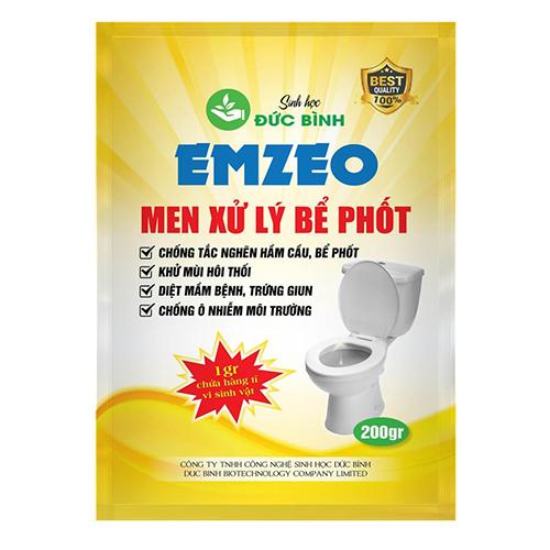 Men xử lý bể phốt là chế phẩm sinh học phân hủy và khử mùi hôi phân thải, giấy